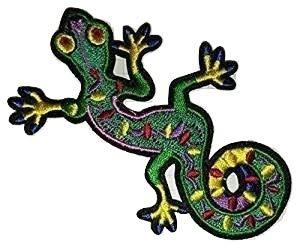 Salamander Lagarto Gekko Retro Hippie bordado iron on patch