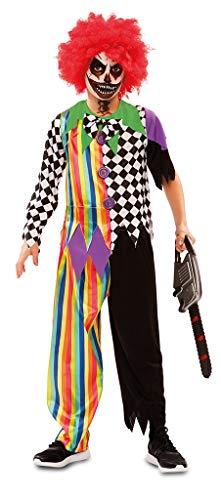 Disfraz de Payaso Siniestro Multicolor para niño