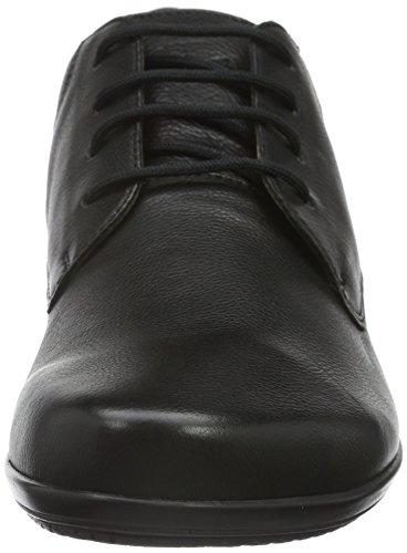 Ganter Fiona, Weite F, Chaussures À Lacets Donna Nero (schwarz (schwarz 0100))