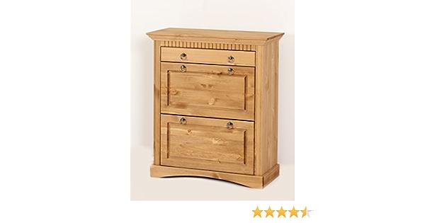 clever-moebel Commode de tiroir en pin Jaune//huil/é