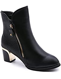 Hannea Martin New Winter With Thick British Style Short Canister Female Fall Side Zipper Boots