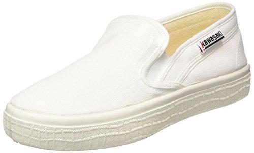 Kawasaki Sab, Slim, Baskets Basses mixte adulte Blanc - Weiß (White, 01)