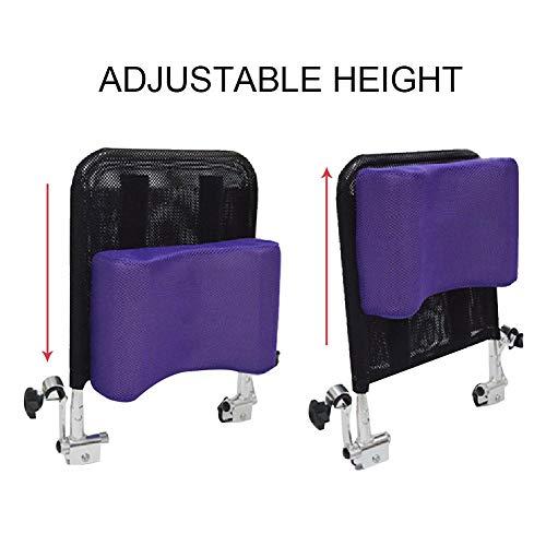 413oo0vX8dL - Juanya Almohada ajustable para reposacabezas de silla de ruedas con tubo de mango trasero, soporte para el cuello de 16 a 20 pulgadas, color negro