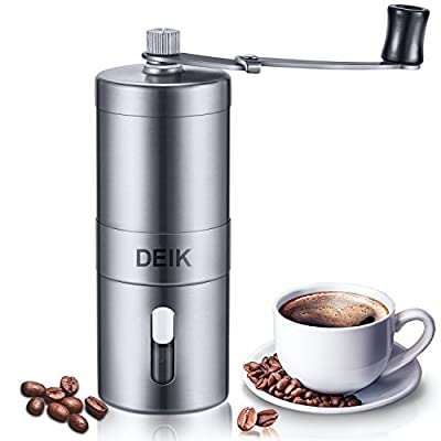 Deik Coffee Grinder Manual, Portable Coffee Grinder, Adjustable Stainless Steel Manual Coffee Maker for Precision Brewing by Deik
