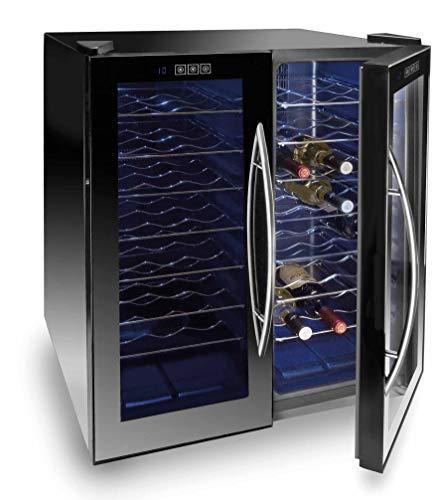 Lacor Line 48Flaschen Thermoelektrische Weinkühler, schwarz, 52x 70x 52cm