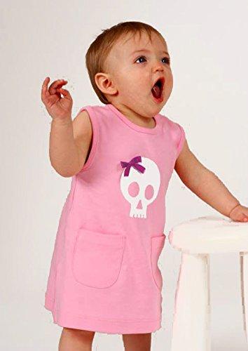 Calavera & Lazo único Niñas Vestido/Funky infantil y de bebé niñas vestido/ALTERNATIVA Punk ropa de bebé idea de regalo–traje para Halloween rosa rosa Talla:2-3 años