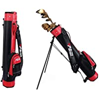 KIKILIVE Golf Bag with Stand,Pitch & Putt Golf Lightweight with Stand & Handle,Large Capacity,Can Hold 9 Clubs