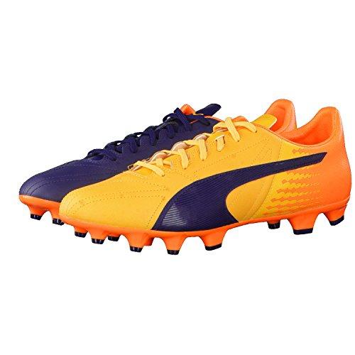 Puma Evospeed 17.2 Lth Fg, Scarpe da Calcio Uomo Ultra Yellow-Peacoat-Orange Clown Fish