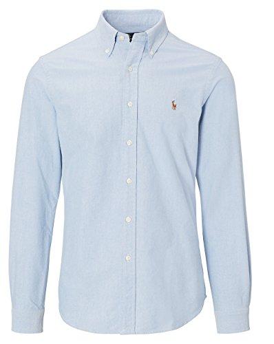 Ralph lauren - - -  camicia casual - button-down - manica lunga - uomo blue medium