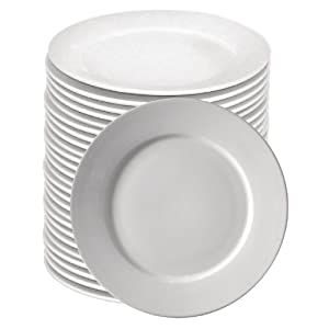 413oqGhqmVL. SS300  - Athena Hotelware S607 Rimmed Plate, Bulk Buy (Pack of 36)