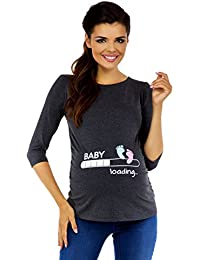 Zeta Ville Premamá - T-Shirt Camiseta Divertido Estampada - Para Mujer - 549c