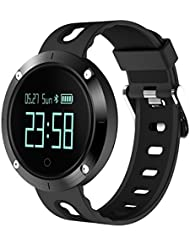 Smart Armband, 9Tong Wasserdichte Smart Fitness Armbänder mit Pulsmesser, Herzfrequenz Monitor Schwimm Sportuhr Aktivitätstracker Podometer Fitness Tracker für Android iOS Smartphones