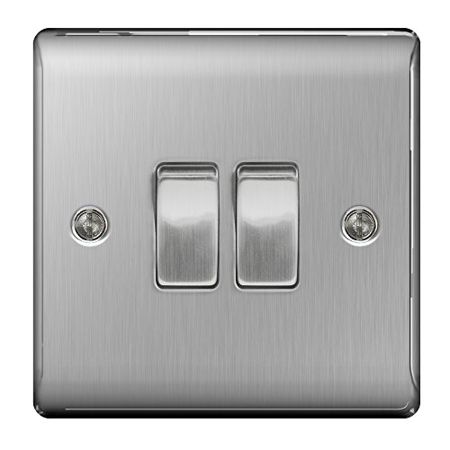 masterplug-nbs42-10-a-2-gang-2-way-metal-brushed-steel-light-switch