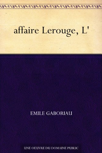 Couverture du livre affaire Lerouge, L'