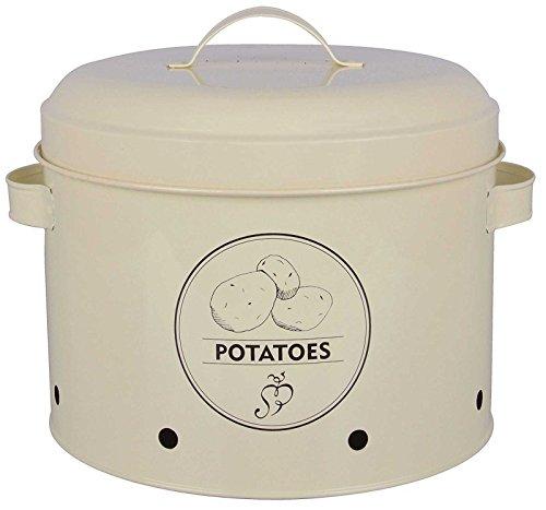 SIDCO Kartoffeltopf Vorratsdose Kartoffeln Dose Aufbewahrung Kartoffel Behälter Shabby