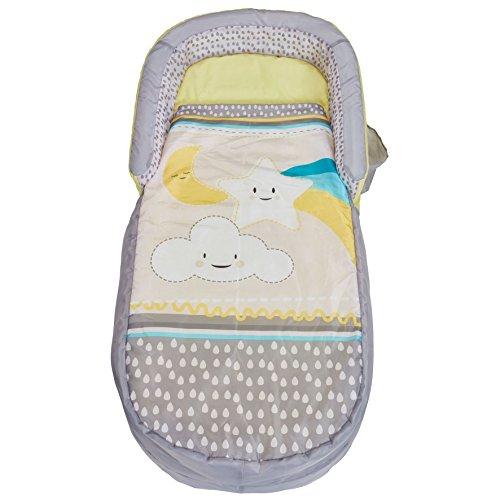 Ready Bed 401CLO My First Readybed Letto Gonfiabile e Sacco a Pelo per Bambini 2 in 1, Poliestere-Cotone, Grey, 130 x 61 x 23 cm