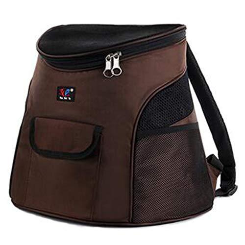LXYUCWB Outdoor Reise Pet Bag Rucksack Hundekasten Tasche atmungsaktive Katze Rucksack 29x23x34cm (lila, rosa, braun, rot)