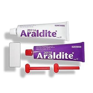 Araldite 2011 | 300 g | 2 Tuben mit Zahnspachtel | Araldite | Huntsman | Zwei Komponenten Kleber 2K Kleber | Klebstoffkartusche | Zwei Komponenten Klebstoff 2K Klebstoff | Epoxid Kleber Epoxid Klebstoff Epoxid Harz Epoxidharzkleber Epoxidharz Epoxidkleber Epoxidklebstoff