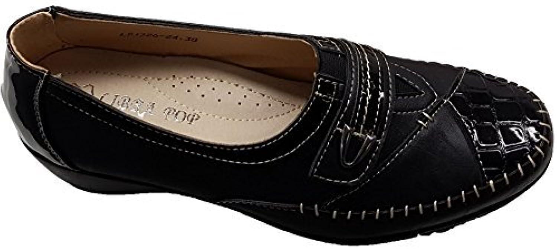 Sapphire Boutique by Sapphire Zafiro Boutique @ Cómodas Para Dama Suela Caimán Charol Bajo Zapatos de Cuña