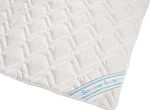Wildseide Sommer Bettdecke Steppdecke Silk-Wash Füllung 60% Seide 40% Baumwolle GOA Bezug 100% Baumwolle (135x200 cm) -