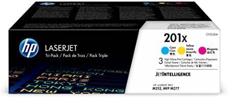 HP 201X (CF253XM) Multipack Original Toner (Blau, Rot, Gelb) mit hoher Reichweite für HP Color Laserjet Pro M252, M274n, M277