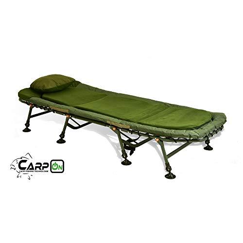 CarpOn Gartenliege Camping Liege Soft Karpfenliege 8 Bein 150kg