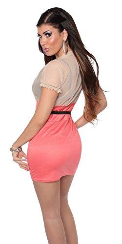 In-Stylefashion - Robe - Femme Beige Beige Rose - Beigecoral