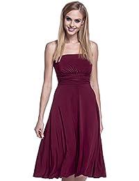 Glamour Empire. Para Mujer Vestido Sedoso Sin Tirantes Palabra de Honor. 129