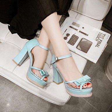 LvYuan Da donna-Sandali-Tempo libero Ufficio e lavoro Casual-Altro-Quadrato-PU (Poliuretano)-Blu Rosa Viola Bianco Blue