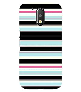Chiraiyaa Designer Printed Premium Back Cover Case for Moto G4 Play (lines stripes pattern texture horizontal) (Multicolor)