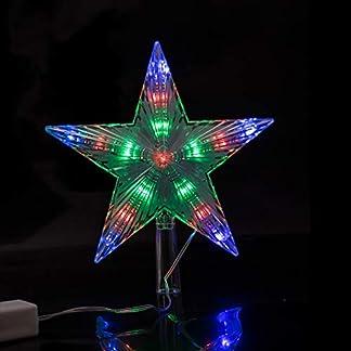 Luz decorativa Árbol de navidad Estrella superior Cadena LED Luces de hadas Decoración de la boda Lámpara de fiesta For el jardín, Tamaño: S Luces navideñas