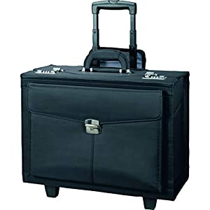 Alassio Trolley Pilotenkoffer Rocca II, Businesskoffer aus Mikrofaser, Handgepäck Aktentrolley mit 2 Rollen Koffer, 46…