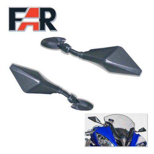 Paar Seite Spiegel Muscheln für Aprilia RS4125carbon-carbon Moto