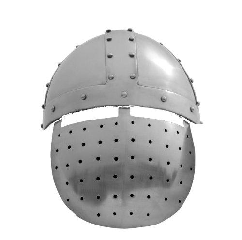 Spangenhelm mit Gesichtsplatte / Größe L / Mittelalter Helm des 12. Jahrhunderts / Get Dressed for Battle -