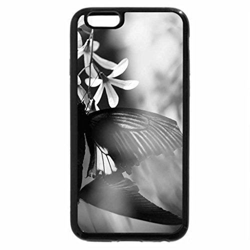 iPhone 6S Plus Case, iPhone 6 Plus Case (Black & White) - Stained Glass Butterfly