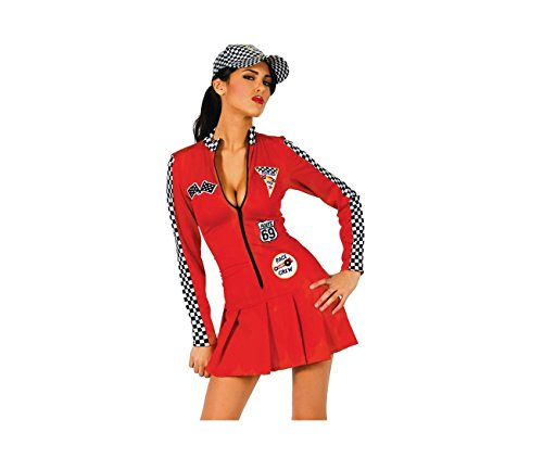 Kostüm Driver Car - Der reizvollen Red Race Car Driver erwachsenes Halloween-Kostüm (32-34)