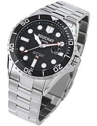 Reloj de hombre Beuchat modelo Ocea negro y plateado–BEU0095/1