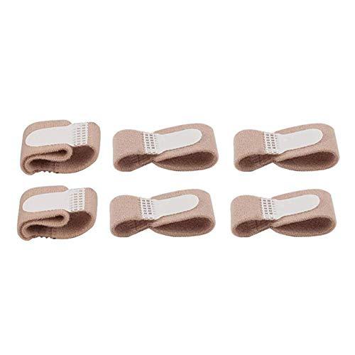 AOLVO 6pcs Rotto Toe Splint Toe Big Toe allineamento del Piede con Stecca Bendaggio per Dita dei Piedi Maniche Hammer Toe Cuscino di Supporto per Dita Bende Wrap per Donne Uomini