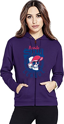 Florida skull league Womens Zipper Hoodie X-Large