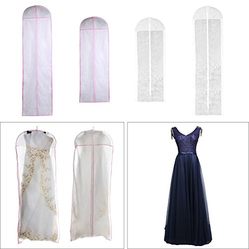 Enjoyall Kleidersack für Kleid, 150/180 cm Atmungsaktive Schutzhülle mit Zwickel für...