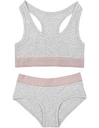 a57bbfedca The Pyjama Party Girls Crop Top Brief Underwear Set Sports Bra Design  Bralette with Boy Shorts