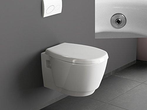 Aqua Bagno Design Hänge Dusch-WC Luca mit Bidet/Taharet Funktion inkl. Softclose Sitz