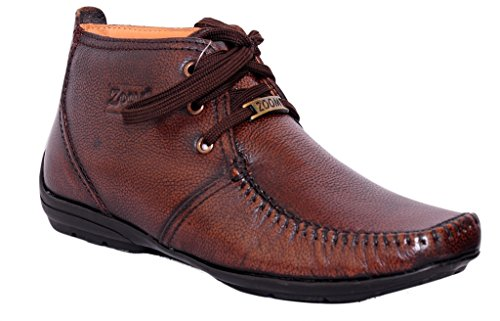 a737a4f0e 55% OFF on Zoom Men s Pure Leather Formal Shoes D-3181-Brown on Amazon