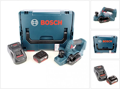 Bosch GHO 18 V-Li Professional Akku Hobel in L-Boxx mit GAL 1880 CV Schnellladegerät und 1x GBA 6 Ah Akku