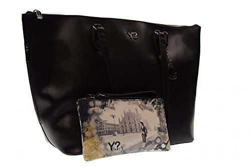 Y NOT? donna borsa shopping 777-M BLACK Black