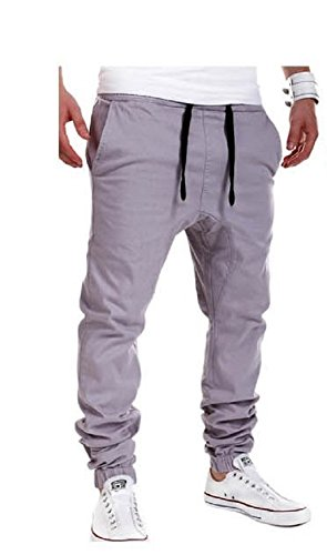 WTUS Herren Hosen - Cargo Jogging Pants,Cargohose eng für Jungen schwarz