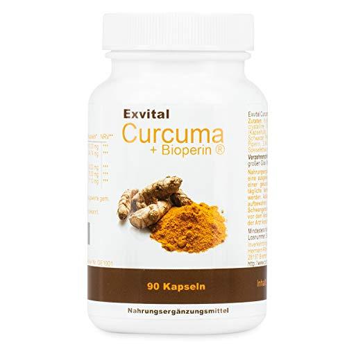 Exvital Curcuma + Bioperin ® - Curcumin hochdosiert, 90 vegetarische Kapseln, 1er Pack (1 x 72 g)