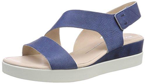 Ecco Damen Touch Peeptoe Sandalen, Blau (Indigo 5 1321), 36 EU