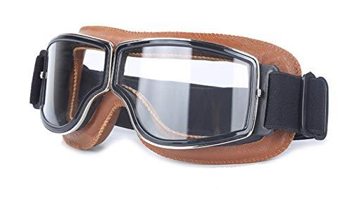 Lafeil Sportbrille Damen Damen Herren Offroad Motorradfahrer Für Motorradbrillen Ausgestattet Mit Outdoor Brillen Für Lokomotiven Brown Clearance