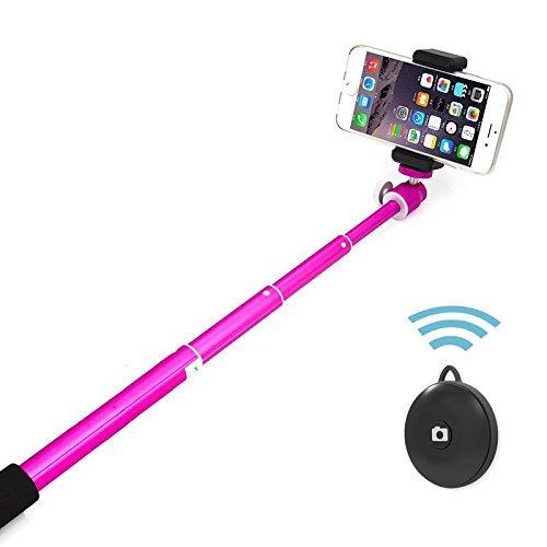 Wireless Selfie Stick, 6amlifestyle Bluetooth monopiede con otturatore remoto integrato supporto per telefono regolabile per (Mini Cellulare Schiuma)